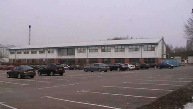 application site built and the works car park